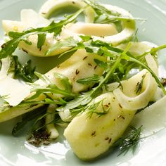 This salad makes a real statement at the start of a meal. It is wonderfully fresh yet substantial and very distinctive in flavour. Make sure your pears are nice and sweet. Serves four to six.