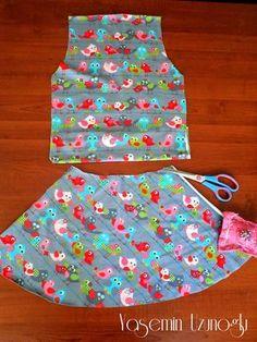 Naza Yeni Kumaşlar VE Pratik Kız Çocuk Yazlık Elbise Dikimi