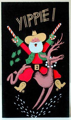 Crazy-cute 50s cowboy Santa!