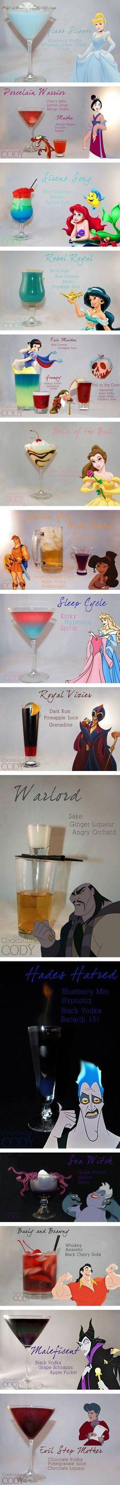 Disney Princess-Themed Cocktails
