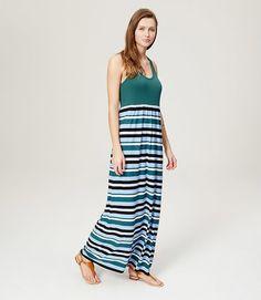 LOFT Beach Striped Racerback Maxi Dress $20.00 (loft.com)