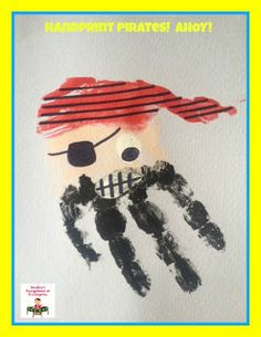 Painting pirates!  Great for a pirate theme!