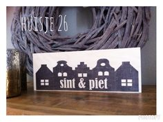 Welkom Sint en Piet op hout