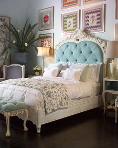 """Sleep like Royalty in the """"Bouvier"""" bed by Florence de Dampierre for John-Richard at Horchow."""