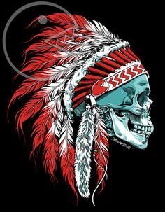 Skull Chief Print - amazeballs: http://skullappreciationsociety.com/skull-chief/ via @Skull_Society