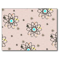 Pink Atom Postcards | Zazzle