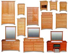 Shaker Amish Bedroom Furniture Collection