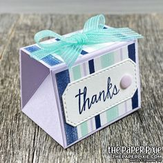 Tapered Treat Box Tutorial Treat Holder, Treat Box, Paper Gifts, Diy Paper, Paper Crafting, Pillow Box, Diy Box, Stamping Up, Handmade Bags
