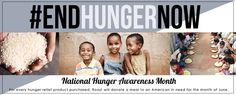 For every hunger relief product purchased in June, Roozt will donate a meal to an American in need #endhungernow