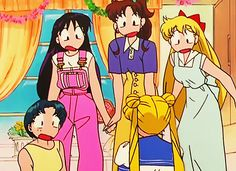 """""""just realized that minako and usagi have practically the same white hoodie + maxi dress"""""""