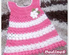 Crochet Pattern, Crochet Dress Pattern,Crochet Baby Dress Pattern, Crochet Baby Clothing Pattern, Crochet Girl Dress Pattern, 0-4 years size