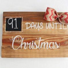 "Letrero ""Days Until Christmas"""