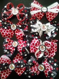 University of Louisville Cardinals Hair Bows with clip