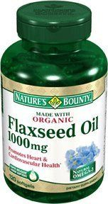 Nature's Bounty Organic Flaxseed Oil 1000mg, 120 Softgels  (Pack of 2) by Nature's Bounty. $15.98. Source of the Omega-3 fatty acid. Organic flax seed. Natural cold pressed. Promotes heart and cardiovascular health. Amazon.com                Organic Flaxseed Oil 1000 mg120 SoftgelsFlaxseed Oil 1000 mgAs a natural source of heart-healthy nutrients, flaxseed oil helps promote overall well-being.*Nature's Bounty flaxseeds are pressed at very cold temperatures and processed without...