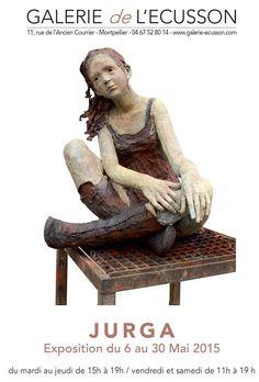 Succès exceptionnel de l'expo Jurga à la Galerie de l'écusson de Montpellier. Prolongation de l'expo