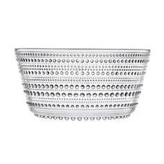 Iittala Medium Kastehelmi Bowl in Clear // concentric dots design Kitchenware, Tableware, Dots Design, Shops, Pressed Glass, Glass Design, Serveware, Home Accessories, Groom Accessories