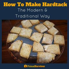 How to make the popular survival food Hardtack. Sharing two different recipes to try out in your homestead kitchen. #emergencypreparedness #shtf #survivalfood #primalsurvivor