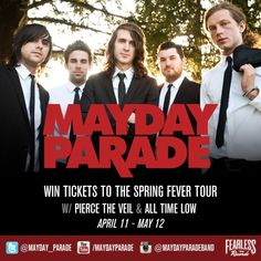 I just entered to win an autographed Mayday Parade legacy prize pack & tickets to see them on the #SpringFeverTour with All Time Low & Pierce The Veil! Enter for YOUR chance to win here: http://maydayparadelegacy.fearlessrecords.com/