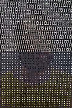 People Behind Perforated Screen-9