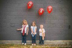 father's day photo ideas balloons kids ties