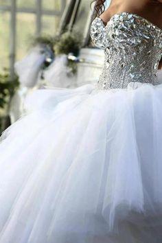 diamond encrusted wedding gown  http://www.pinterest.com/JessicaMpins/