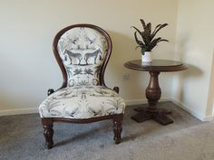 Zebra, Lions, Flamingo Fluted leg, Grandmother Nursing Chair. Traditionally Upholstered