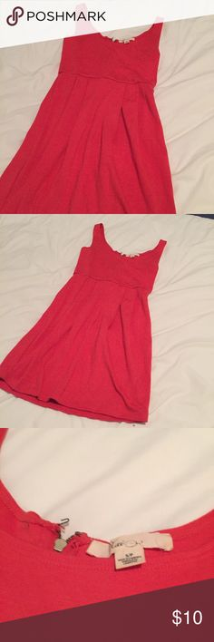FOREVER 21 Short Red Orange Thick Strapped Dress This dress is more Orange than pink, thick strapped, and dress falls above the knee on me (I'm 5'4). Very cute, perfect for summer or spring. Beach dress, summer dress, graduation dress Forever 21 Dresses Mini