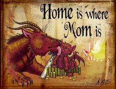 Dragons- Home is where Mom is by ~Eclpsedragon on deviantART  [See also Dragon Babies & Eggs]