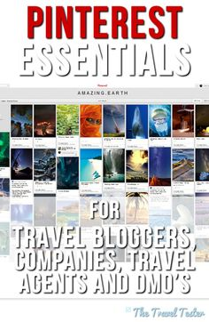 Essential Pinterest tips for travel bloggers, companies and DMO's by The Travel Tester