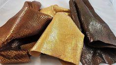 Printed cocco and tejus leather hides (3). A217 di LAGARZARARA su Etsy