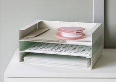 a trendy papertray from peka For sorting sheets and folders - Document trays can be stacked on top of one another or offset - Includes non-slip strips Paper Tray, Storage Boxes, Sorting, Floating Nightstand, Trays, Decorating Your Home, A4, Shelving, Simple
