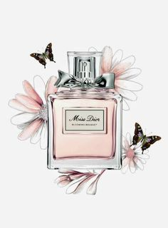 Miss Dior art illustration print pink designer home decor floral butterfly pretty - Art & Prints For Sale I Love ❤ - perfume Miss Dior Blooming Bouquet, Mode Poster, Chanel Wallpapers, Photo Deco, Illustration Mode, Fashion Illustration Chanel, Fashion Illustrations, Fashion Wall Art, Watercolor Fashion