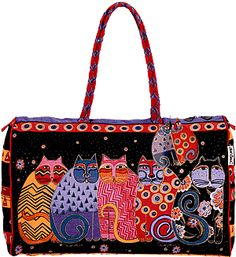 Laurel Burch Bag - purchased about 8 years ago from Softexpressions. This is my favorite carry on travel bag. I get stopped and asked about it everytime I use it. I also have the matching silk scarf with sequins.  Love it ! Love it ! Love it !