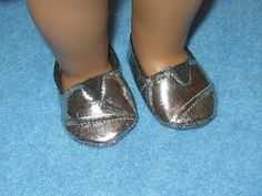 Silver+American+Girl+Toms+Style+Shoes+with+Shoebox+by+girlydezines,+$6.50