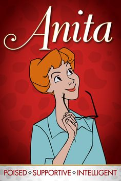 Meet Anita - The wife of Roger and owner of Perdita. She is beautiful, kind, and smart. Meet the rest of the characters from 101 Dalmatians on Tumblr: http://di.sn/h055