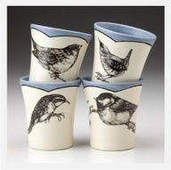 Bird Tumblers, Laura Zindel #homedecor #birddecor