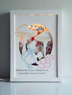 """Veilleuse décorative pour chambre d'enfant: """"Alice"""""""