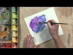 Tom Fleming demonstrates how to use salt to creat a unique effect with watercolors. I can so do this