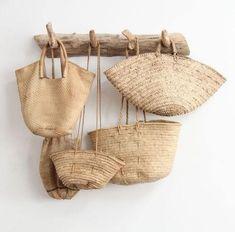 I want these woven bags! I want these woven bags! Use E Abuse, Basket Bag, Home And Deco, Wicker Baskets, Woven Baskets, Basket Weaving, Hand Weaving, Driftwood, Rattan