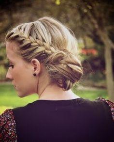 Beautiful medieval looking braided crown with bun