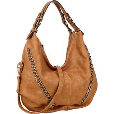 Dasein Faux Leather Hobo Bag - Brown - Hobos ($37) ❤ liked on Polyvore featuring bags, handbags, shoulder bags, brown, brown purse, brown hobo handbags, brown shoulder bag, hobo handbags and dasein handbags