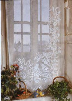 Victoria - Handmade Creations: Ρομαντικές δαντελένιες κουρτίνες   Page 2 of 2 lovebirds windowcovering