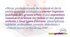 Alerte aux écrans! Health Professional, Young Children, Infancy