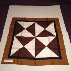 EUC/Vintage YSL Silk Scarf Authentic. Geometric pattern vintage silk scarf. does not look as though this scarf was ever used.Open to reasonable offers. Dimensions: 33x33 inches Yves Saint Laurent Accessories Scarves & Wraps