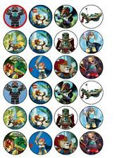 24 x Lego Chima Edible Rice Wafer Paper Cake Bun Top Toppers UK New