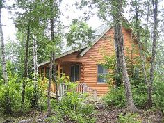 Prong Mountain - Quiet 4-season cabin, wooded setting on pristine Prong Pond