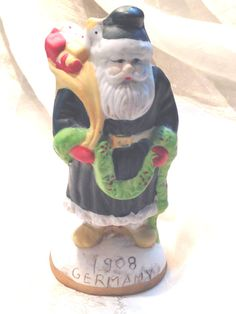 Antique Santa Claus Figurine Made in Germany by NorthCoastCottage, $59.00