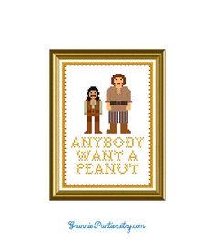 Princess Bride anybody want a peanut - counted cross stitch pattern 5x7