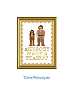 Princess Bride anybody want a peanut - counted cross stitch pattern 5x7