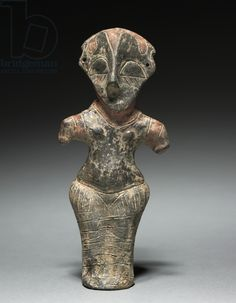 Vinca Idol, Vinça Culture, BC (fired clay with paint) Ancient Goddesses, Egyptian Mythology, Egyptian Goddess, Egyptian Art, Les Balkans, Arte Tribal, Cleveland Museum Of Art, Ancient Artifacts, Ancient Aliens